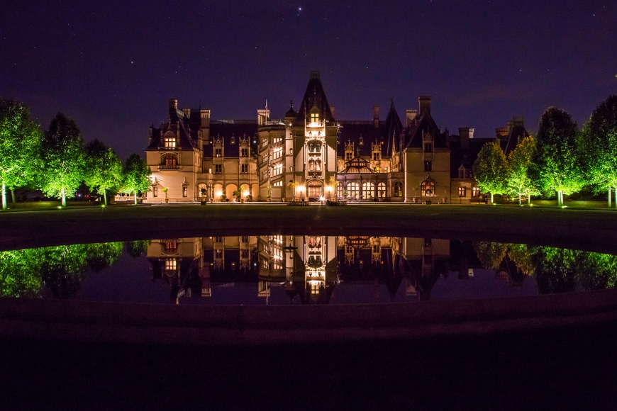 Biltmore House at Night web